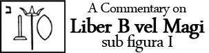 Liber B vel Magi sub figura I
